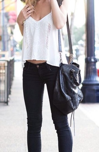 shirt boho bohemian pretty white lace chilled jeans city city chick pants tank top boho chic
