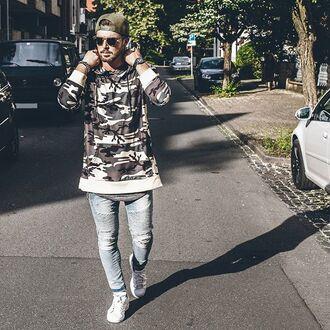 sweater phoenix camouflage camo shirt hoodie mens hoodie streetwear