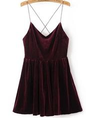 dress,girly,girl,girly wishlist,burgundy,burgundy dress,velvet,velvet dress,crushed velvet,skater dress,cute,mini dress