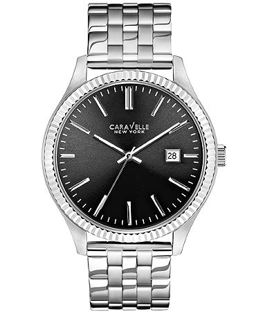 Caravelle New York by Bulova Men's Stainless Steel Bracelet Watch 41mm 43B131 - Watches - Jewelry & Watches - Macy's