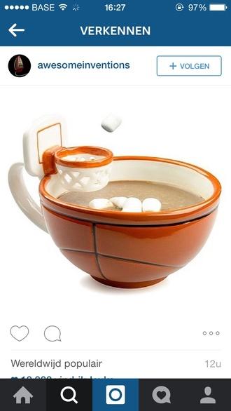 home accessory orange white cup mug funny