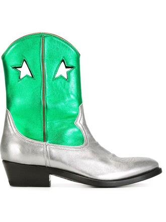 boots green shoes