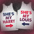 She's My Harry / She's My Louis Best Friends Tanks on Wanelo