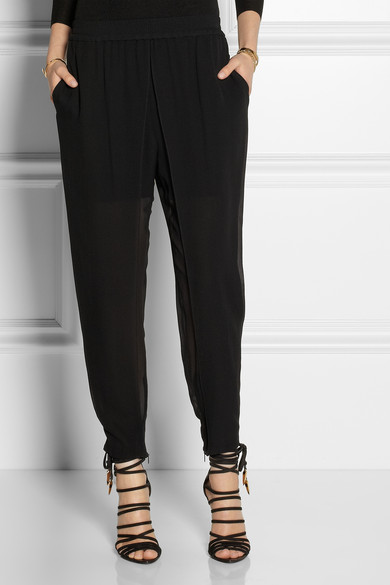 Georgette track pants