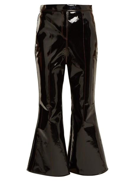 ellery flare cropped black pants