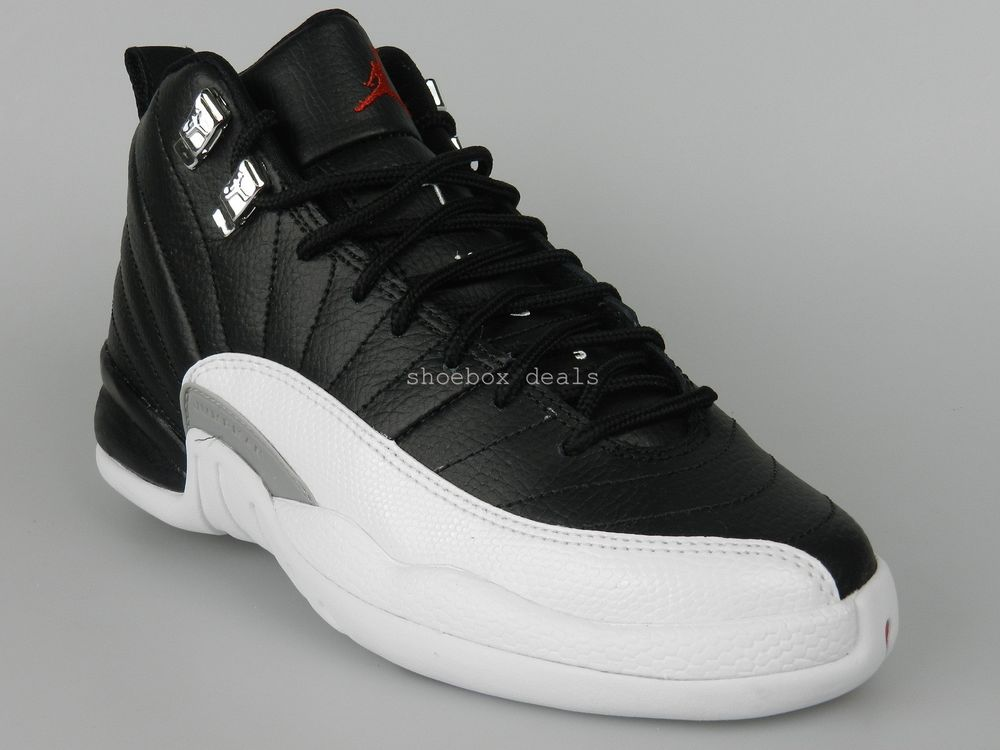 Nike Air Jordan 12 Retro GS Size 4Y New Boys Playoff Black Shoes 153265 001  | eBay