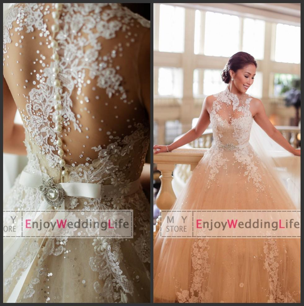 Cheap Mother of the Bride Dress - Discount Tulle a Line Wedding Dresses Applique Floral Beaded Online with $171.3/Piece | DHgate