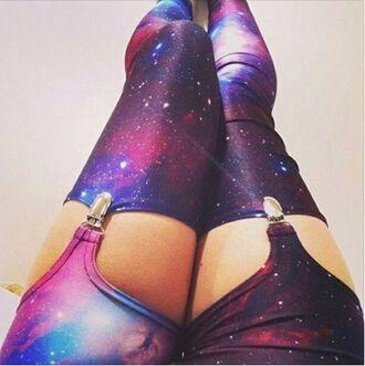 leggings print stockings galaxy stockings cute fashion tumblr garter galaxy garter galaxy print galaxy leggings
