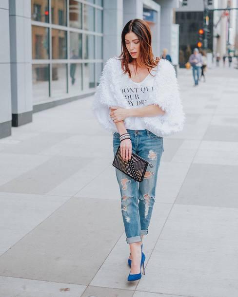 f8e7f1287f12 jeans tumblr blue jeans cuffed jeans ripped jeans denim t-shirt white t- shirt