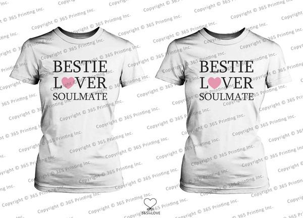 shirt besties bff bff bff soulmate soulmates soul sisters best friend shirts matching shirts matching shirts for best friends