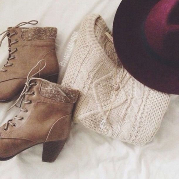 hat shoes sweater