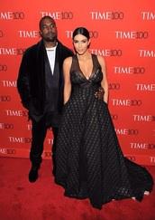 dress,time100,kim kardashian,kim kardashian dress,black dress,black,trasparence dress,sexy dress,sexy,kanye west,gown,red carpet dress,prom dress,plus size prom dress,curvy,plus size