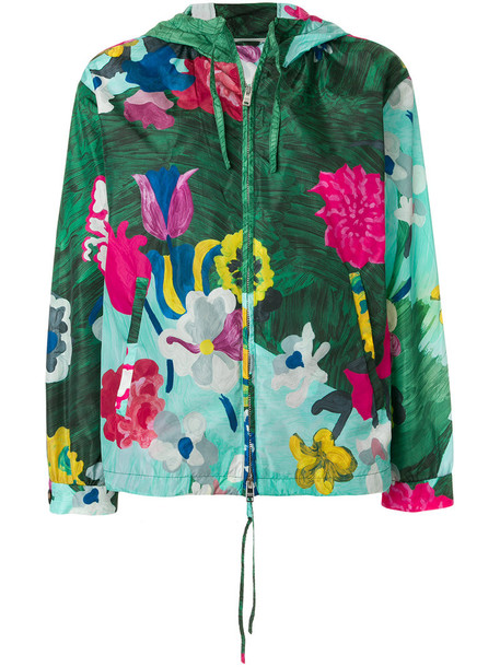 Prada jacket floral jacket women floral green