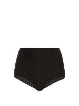 bikini high hollywood black swimwear