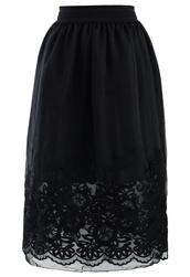 skirt,tender,organza,embroidered,hem,black