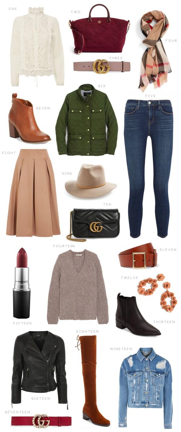 ivory lane blogger top bag belt scarf jeans jacket shoes skirt jewels sweater make-up gucci belt gucci bag handbag boots