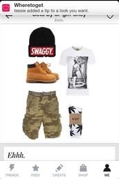 hat,shoes,t-shirt,pants