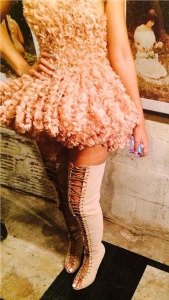 dress blush pink floral dress salmon pink salmon dresses skater dress ruffle dress shoes