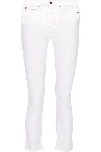 jeans skinny jeans cropped white