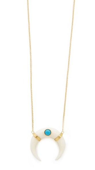 necklace gold white turquoise jewels