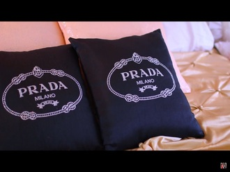 home accessory prada pillow home furniture bedding black