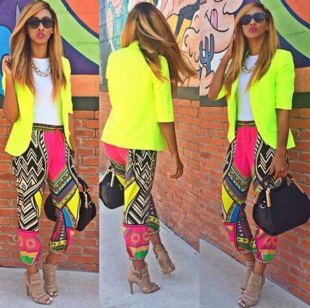 pants blazer lipstick shoes
