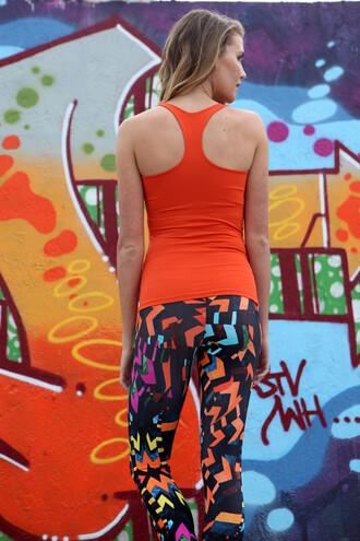 leggings equilibrium multi color print bikiniluxe