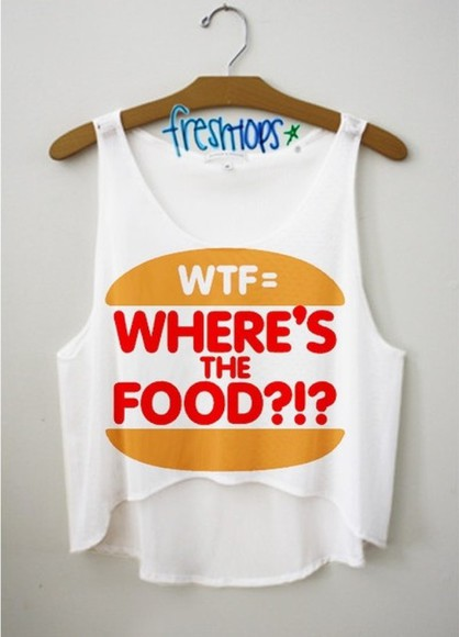food crop tops t-shirt fast food wtf