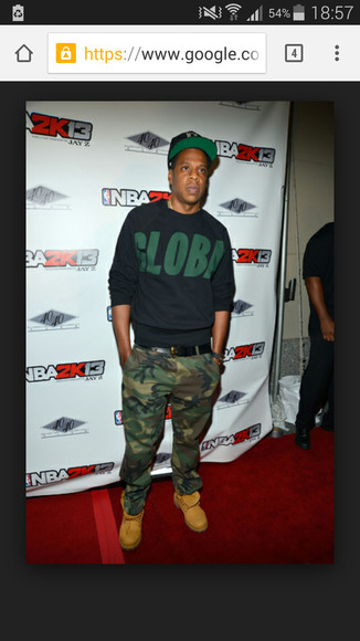 Jay Z camo pants camouflage baggy pants army pants