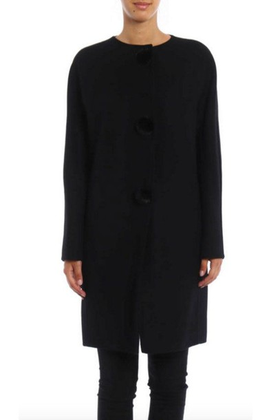 Ermanno Scervino coat wool coat wool black