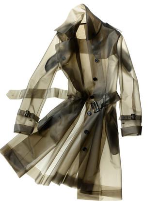 coat clear smoke grey trench coat raincoat
