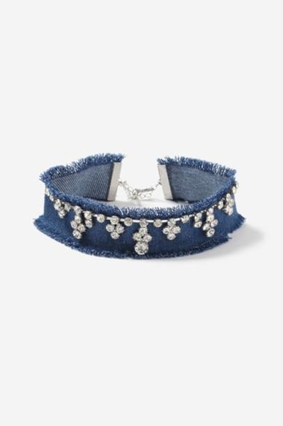 Topshop denim clear embellished embellished denim jewels