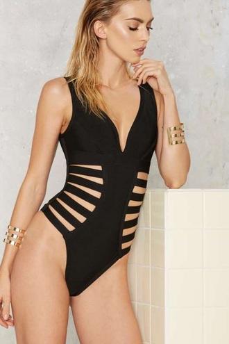 swimwear black nastygal one piece swimsuit black swimwear white swimwear sexy swimsuit