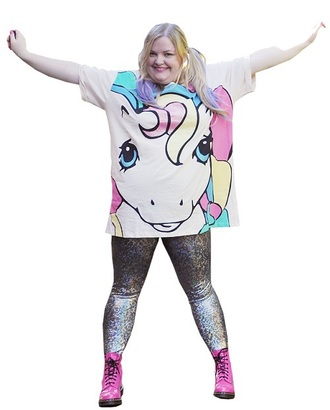 t-shirt unicorn curvy pastel my little pony
