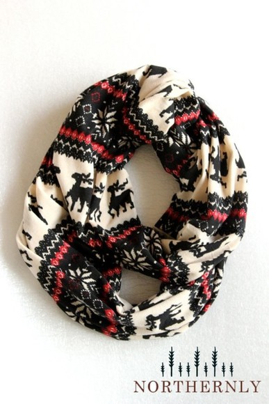 scarf tribal pattern pattern snood christmas pattern orange
