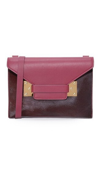 cross clutch plum bag