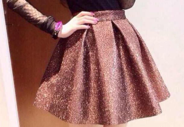 skirt glitter skirt