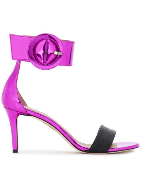 Marc Ellis oversized women sandals leather purple pink shoes