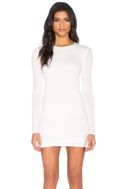 dress long sleeve dress long white