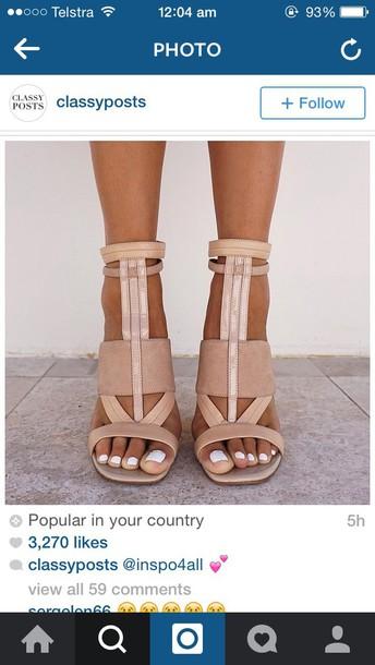 shoes nude high heels camel beige