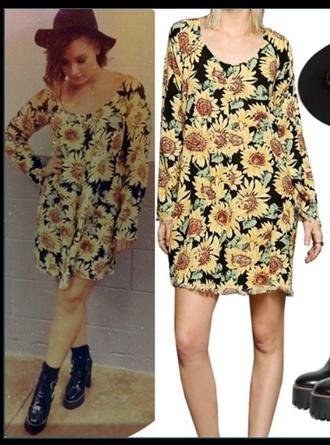 dress demi lovato sunflower