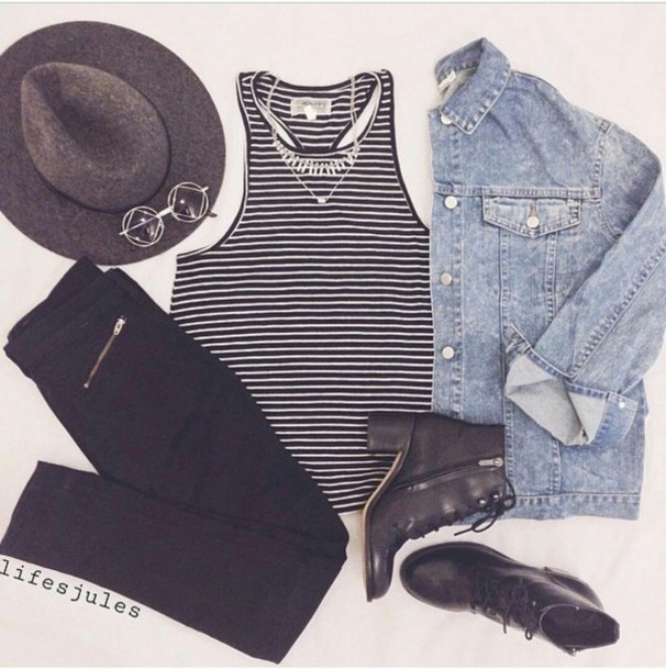 Top Shirt Stripes Stripes Stripy Black And White Striped Shirt