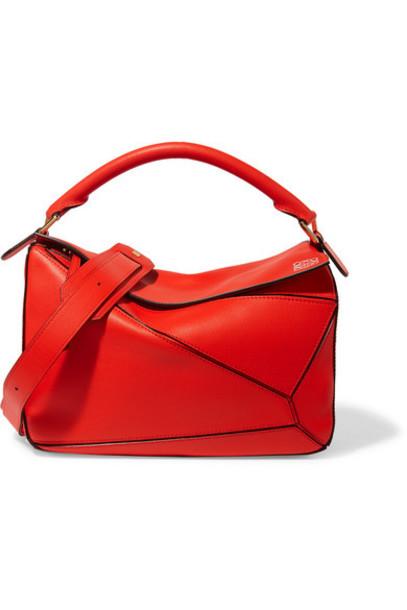 Loewe - Puzzle Leather Shoulder Bag - Red