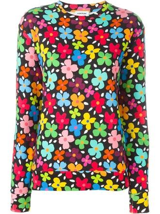 sweatshirt floral print sweater