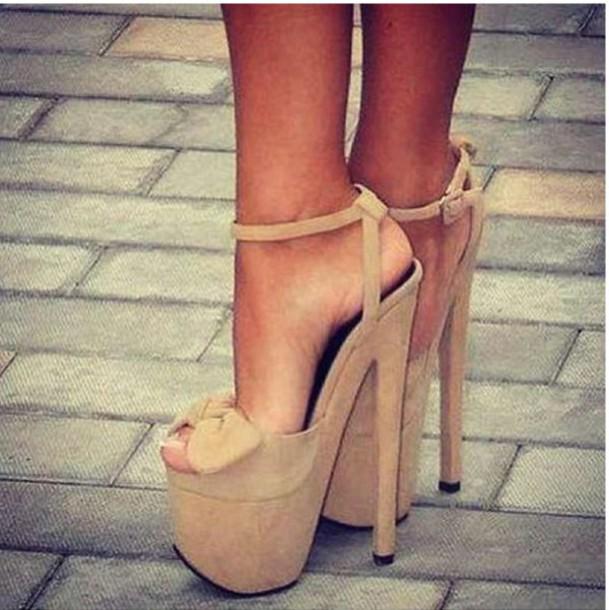 shoes nude nude heels high heels heels suede bow bow heels peep toe heels  peep toe