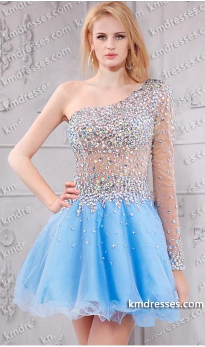 Short One Shoulder Prom Dresses - Ocodea.com