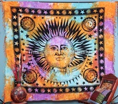 home accessory,black,tapestry,moon,style,hippie,boho chic,blanket,room accessoires,accessories,orange,colorful,rainbow
