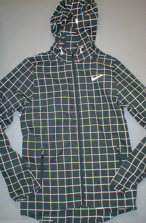 e7b113b2c5b0 NWT  200 Mens New Nike XS Green Gray Reflective Jacket Repel ...