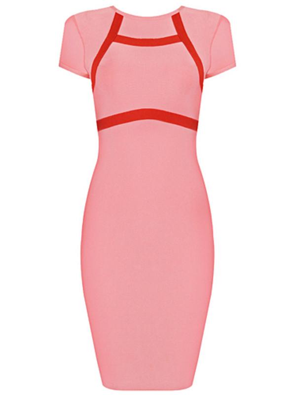 dress kim kardashian dress bandage dress pink