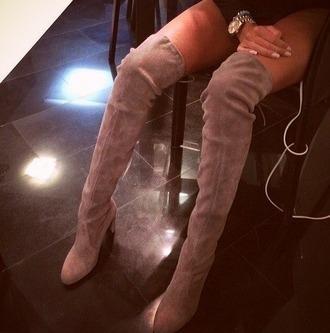 shoes overknee boots high heels boots
